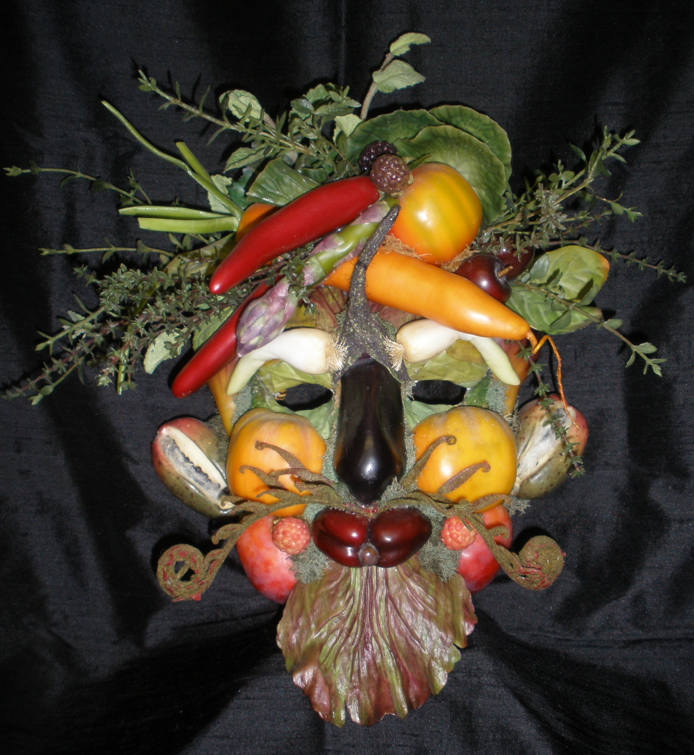 Inexpensive Kitchen Ideas Veggie Mask Inspired By Giuseppe Arcimboldo Figments
