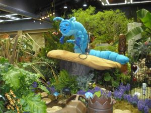 Caterpillar from Alice in Wonderland Garden