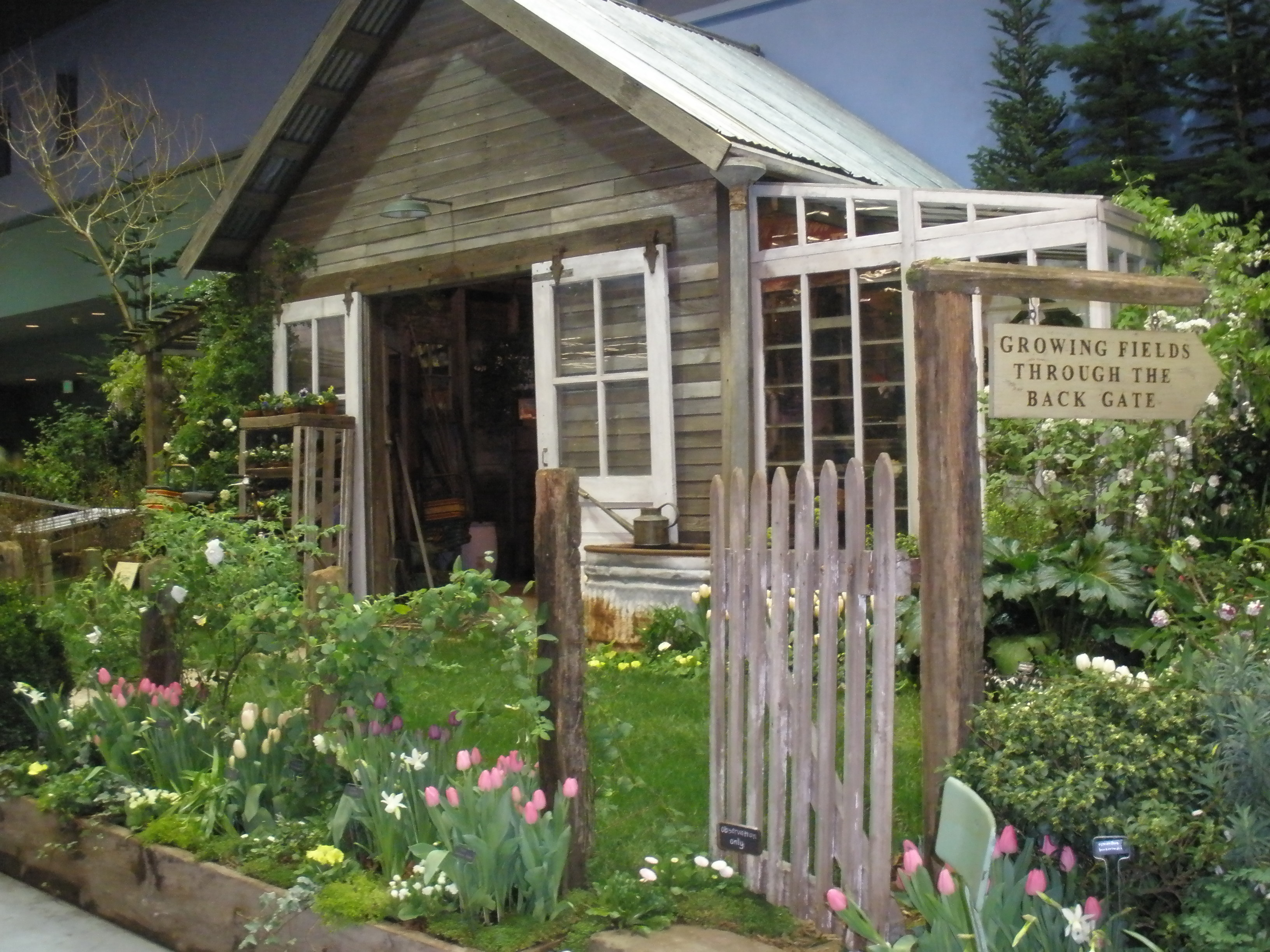 A nw flower garden show thank you figments studio blog - Backyard sheds plans ideas ...