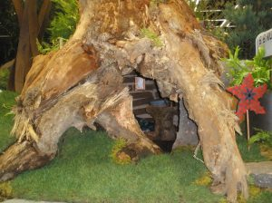 Tree Stump Home of the Big Bad Wolf from the Three Little Pigs Garden